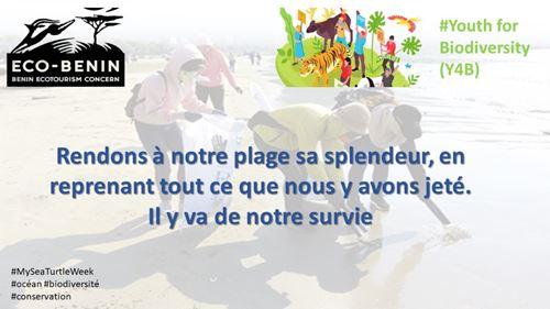 Sensibilisation des jeunes des communes d'Abomey-Calavi et de cotonou sur leur rôle dans la conservation de la biodiversité marine