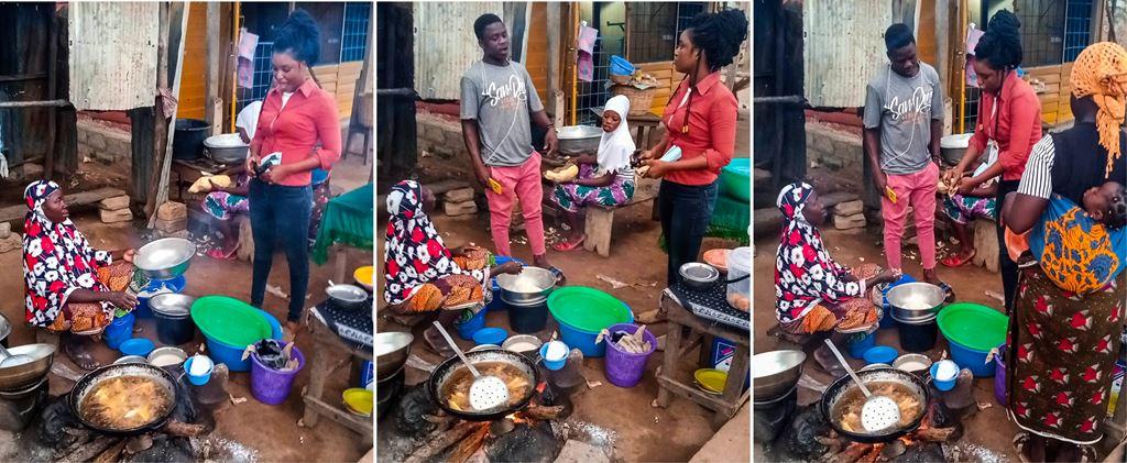 Campagne de sensibilisation des vendeuses de beignets et ignames frits pour la lutte contre l'utilisation des sachets plastiques à Parakou